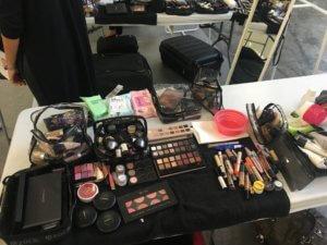 Make up kit layed out