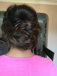 Hairstyle. Braids updo.