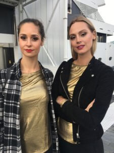 Two models with professional makeup special occasion